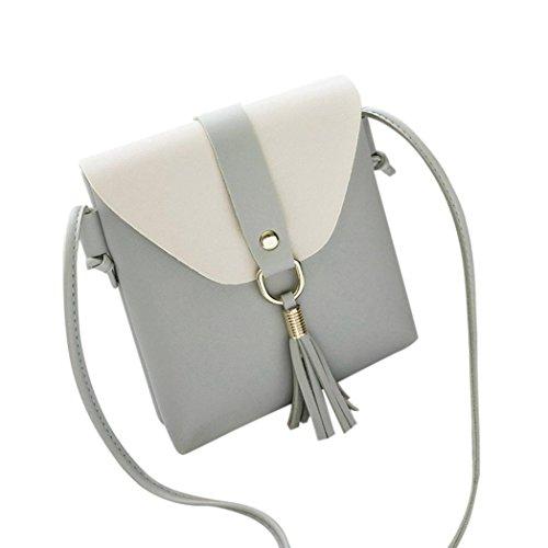 Cellular Blend - Bags,AIMTOPPY Stitching Hit Color Tassel Bag Cover Messenger Bag Shoulder Bag cell phone bag (Blue, FREE)