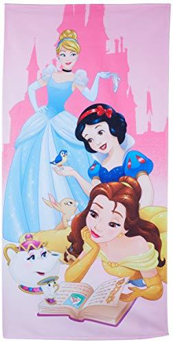Toalha Aveludada Lepper Princesas Rosa 75 cm x 1.4 m Pacote de 1 Algodão Tradicional