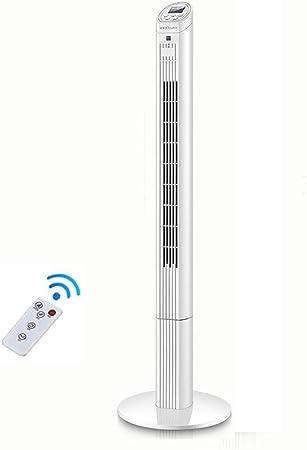 Opinión sobre FHDF Silencioso Ventilador De Torre con Mando a Distancia Portátil Oscilante 3 Velocidades 3 Viento para El Hogar Y La Oficina Temporizador (Blanco, 40w 126CM)