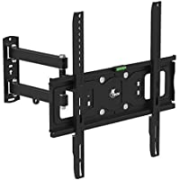 Xtech Americas TV Wall Mount for 32 to 55 LED LCD Plasma Flat Screen, Full Motion Swivel 180 Degrees, Up to 77Lbs, VESA Max 400x400mm, Tilt 12 Degree For Samsung, LG, Sony, Panasonic, Vizio & More