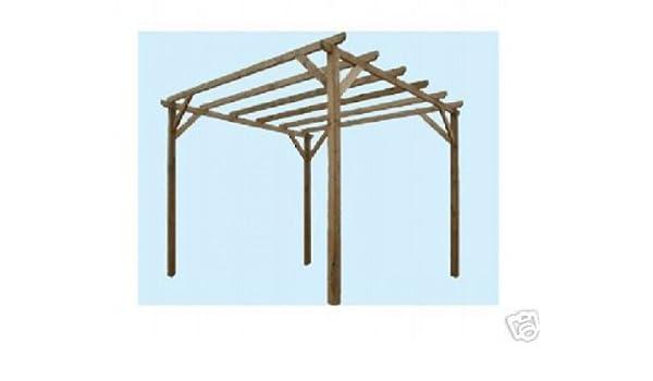 Gazebo Gazebi Pergole Pergola Lasa Impregnado Mt.3 Muebles de Jardín 3 X Exterior: Amazon.es: Jardín
