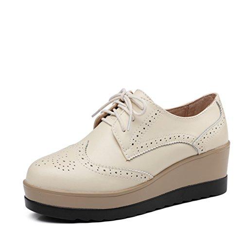 Otoño zapatos del ocio/Zapatos de plataforma de viento UK mujeres/escoge los zapatos/Zapatos de suela gruesa/Zapatos de cuero genuino/Zapatos de mujer planos B