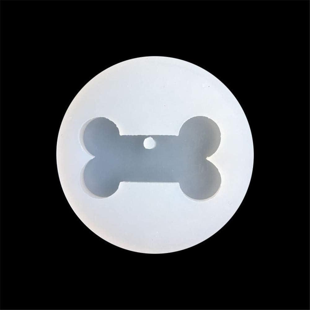 Nopera Molde de resina epoxi con forma de hueso para hacer manualidades 1 pc bone