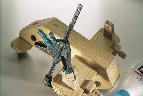 wolfcraft Mini-Einhandzwingen 40-110 mm 3455100 - Zwingen Set für präzises Fixieren von kleinen Werkstücken - 2 Stück…