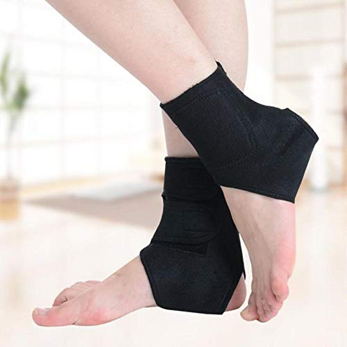 (Car accessories - 1 Pair Self-heating Tourmaline Magnet Ankle Support Brace Sport Safety Foot Injury Protector Winter Warm Heath Care)