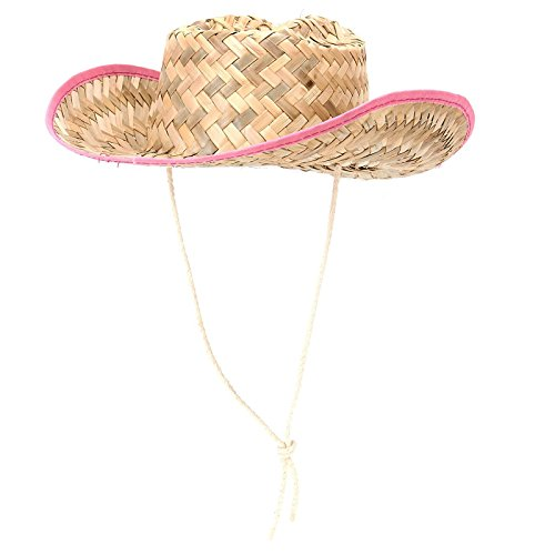 Kids Straw Cowboy Sheriff Party Hat W/star, 1 Pack, Color May Vary
