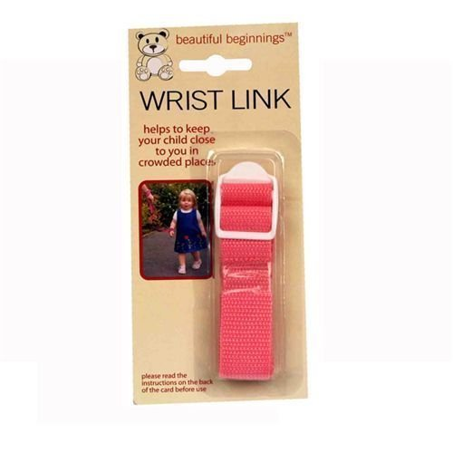 Children Wrist Link Baby Child Toddlers Strap Safety Link Rein Harness 4 colours (Pink)