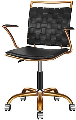 LUXMOD Home Office Chairs Ergonomic Vegan Leather Swivel Chair