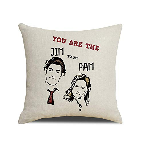 BESHOWER-CT Adorable Couples from The Office You are The Jim to My PAM Pillow Cover Cushion Gift for Lovers -