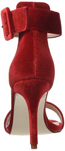Alla Scarpe Con Morgan Cinturino Lipstick Rosso Caviglia rouge Donna Savel POxRAqI