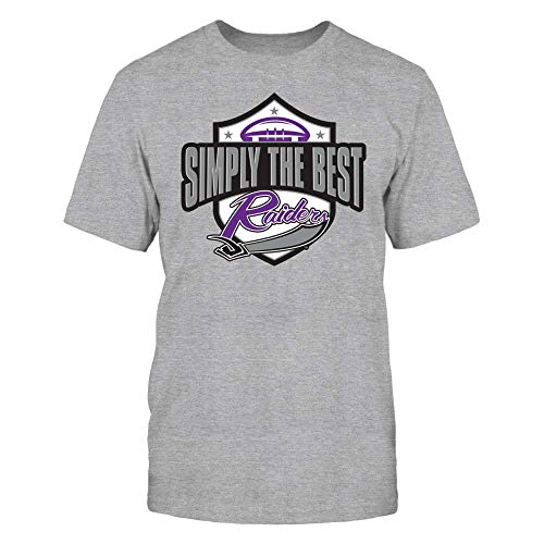 - FanPrint Mount Union Raiders T-Shirt - Mount Union National Championship T-Shirt | Tank | Hoodie - Simply The Best - Men's Tee/Grey/XL