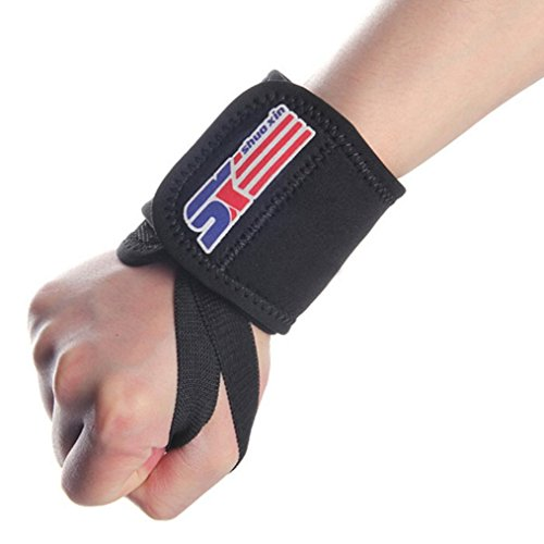 [Sports Elastic Stretchy Wrist Joint Brace Support Wrap Band - Black] (Coast Guard Costumes For Kids)