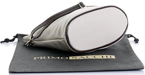 cuir fait corps ou Primo petite italien Sacchi autruche effet En fermoir sac main Front Croix wnnaOfx7