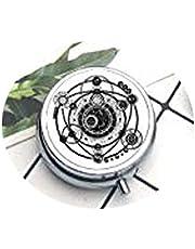 Sigil Magic Witchcraft Compact 3-vaks medicijnkastje, Pill Box voor zakje of portemonneehouder, sieretui met geschenkdoos