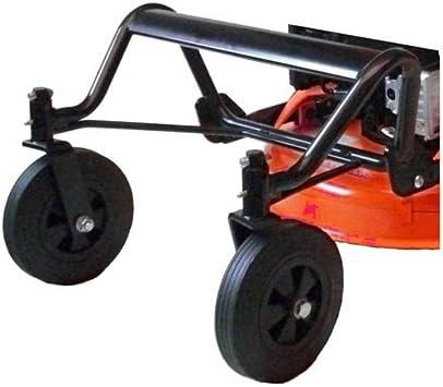 LAZER KIT2W - Accesorio para desbrozadora con ruedas, juego de 2 ruedas giratorias delanteras con estructura especial hierbas altas: Amazon.es: Bricolaje y herramientas