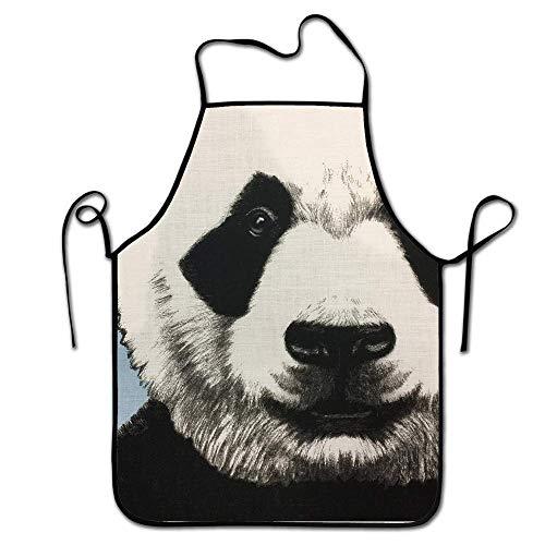 FEDDIY Women,Man,Chef- Kitchen Apron-Cute Apron for Cooking, Baking, Gardening, Crafting, BBQ- Mr DJ Panda ()