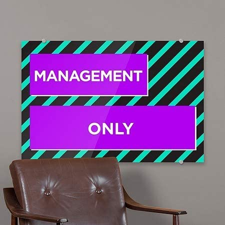 18x12 Management Only CGSignLab Modern Block Premium Brushed Aluminum Sign 5-Pack
