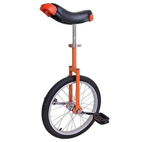 GHP Orange Manganese Steel 18'' Wheel Skid-Proof Tire Aluminum Alloy Rim Unicycle by Globe House Products
