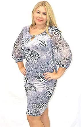 Modis Fashion Grey Chiffon Casual Dress For Women