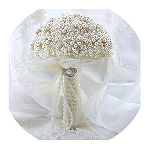 Wedding Bouquet Silk Wedding Flowers Rhinestone Jewelry Blush Pink Brooch Bouquet Gold Broach Bridal Wedding Dress Wedding Bouquet S79 89