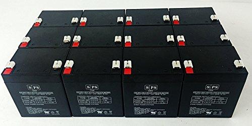 12V 5Ah Chamberlain 41A6357-1 Garage Door Opener Replacement Battery (SPS Brand) -12 Pack
