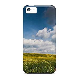 Awesome Design Field Of China Rape Hard Case Cover For Iphone 5c