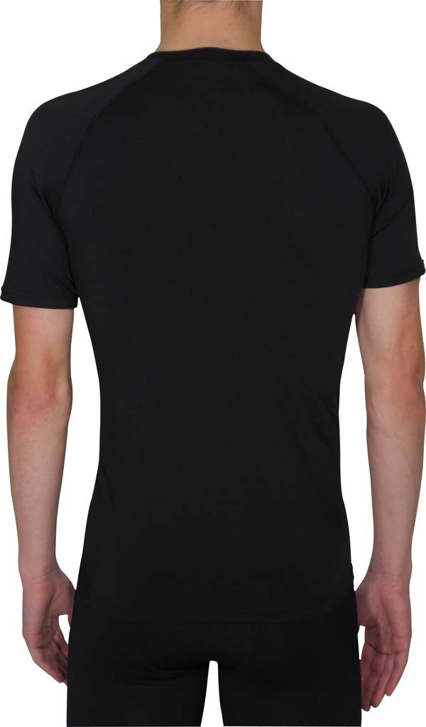 More Mile Compression Baselayer Mens Running Top Black
