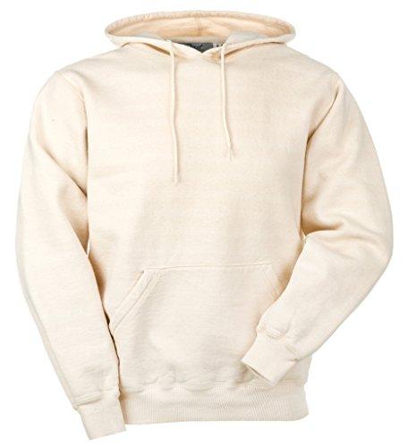 JustSweatshirts Unisex Pullover 100% Cotton Hooded Sweatshirt Natural ()