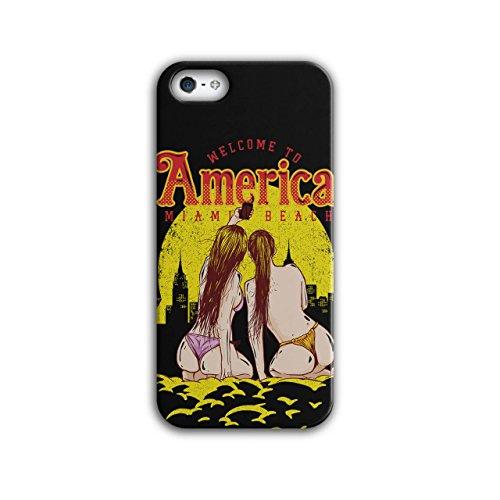 Welcome To Miami Beach America NEW Black 3D iPhone 5 / 5S Case   Wellcoda