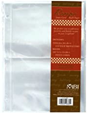 MCS 899860 MBI Recipe 2-Up 5-Inch-by-7-Inch Refill Pages, 10-Pack, 20 Pockets