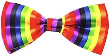 ROCK Orgullo Gay Arcoiris Set: Corbata //Pajarita // Tirantes// Bandera// Cordones de los Zapatos // Bigote - Pajarita: Amazon.es: Juguetes y juegos
