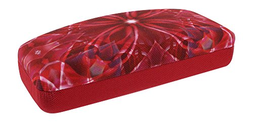 National Geographic Kaleidoscope Hard Eyeglasses Case For Women And Men In Dark Pink