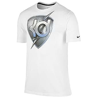 Nike Mens KD Foundation Crest Dri-Fit T-Shirt White (Medium)