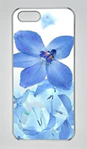 Iphone 5 5s PC Hard Shell Case Flower and Bee Wing Transparent Skin by Sallylotus