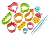 japanese bento cutter - CuteZCute Bento Ham Cheese Carrot Cutter, 14-Piece, Fun Shapes