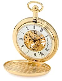 Charles-Hubert, Paris 3909-g Classic Collection chapado en oro Hunter funda mecánico reloj de bolsillo