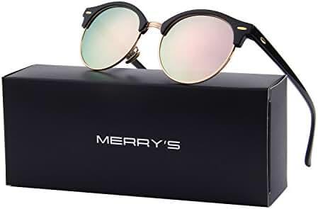 MERRY'S Polarized Sunglasses for Men Women Semi Rimless Retro Brand Sun Glasses S8054