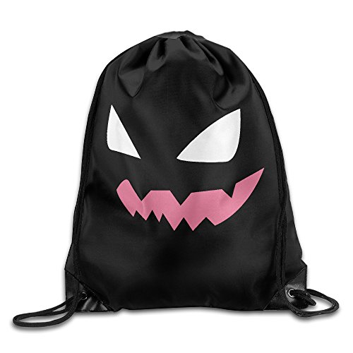 Bro-Custom Evil Gengar Face Children Knapsack Size Size Key White.