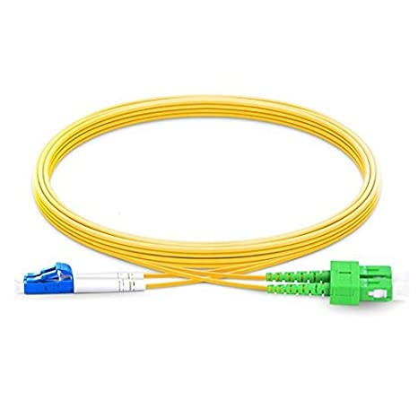 3,0 mm Au/ßendurchmesser 9//125 Glasfaser-Patchkabel 20m 2.0mm LWL-Kabel LC//APC auf SC//APC Single Mode Duplex 2,0 mm