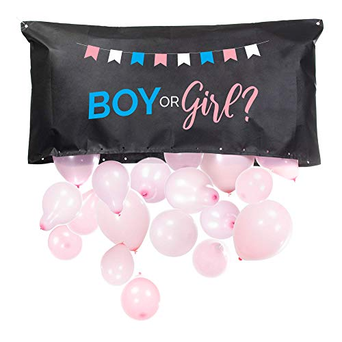 Balloons With Designs (Pop Fizz Designs | Gender Reveal Balloon Drop Bag | Boy or)