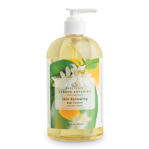 Garden Botanika Skin Renewing AHA Body Cleanser, Light Yellow, Citrus, 16.9 Fluid Ounce
