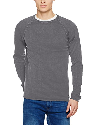 Knit Mal Grey solid Gris Pull 2890 Homme dark dO66q5n