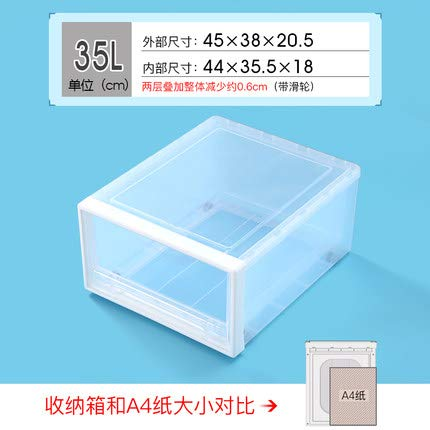 - Storage Boxes Bins - 35l Plastic Drawer Locker Wardrobe Boxes Clothing Box Storage Cabinets With Drawers - Sweatshirt Organ Lock Organic Fridge Smd Drawer Hoodie Closet Cabinet