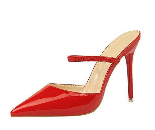7 Eu 35 Col Tacco ds86 Scarpe red Miyoopark Donna Rosso Miyooparkuk vxw1qnE 8e1a63060d7