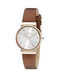 Skagen Women's SKW2260 Brown Leather Quartz Watch