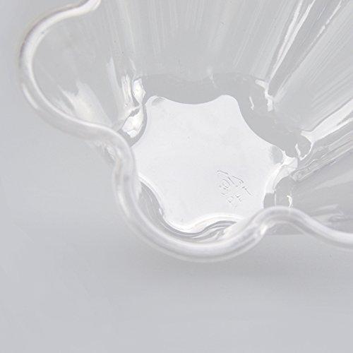 JKLcom Ice Cream Bowls Clear Plastic Dessert bowl Flower Ice Cream Bowls Dessert Cups 30