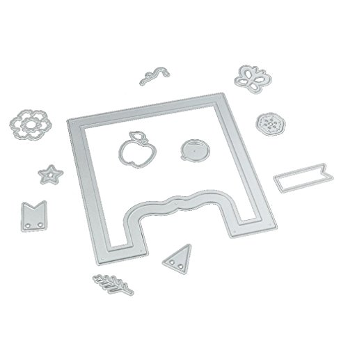 Slice Glass Cutting Mat - FIRERO Metal Cutting Dies Paper Card Maker DIY Scrapbook Stencil Craft, Apply to Sizzix Big Shot, Cricut Cuttlebug, Spellbinders and other Embossing Machines (Decoration)