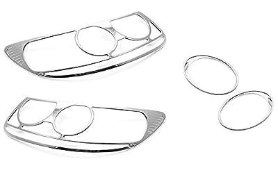 Sizver Chrome Headlight+Foglight cover For 2007-2009 Hyundai Santa Fe