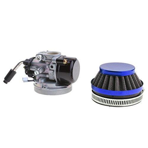 MagiDeal Carburetor 2 Stroke Pocket Rocket Dirt Bike Carb for 37-49cc Mini Quad - Blue Air (49 Cc Pocket Rocket)