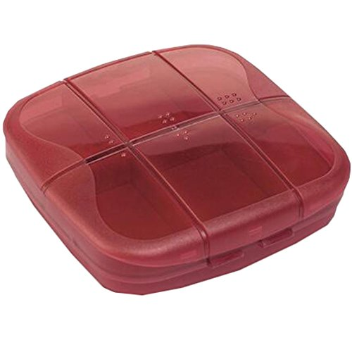 Portable Travel First-Aid Kit Medicine Storage Box Pill Sorter Container Red by Kylin Express